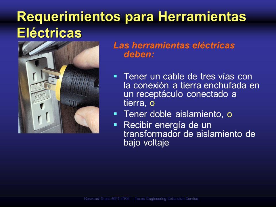 Requerimientos para Herramientas Eléctricas