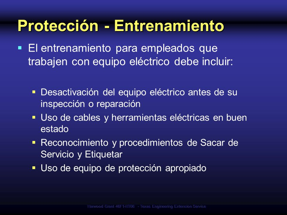 Protección - Entrenamiento