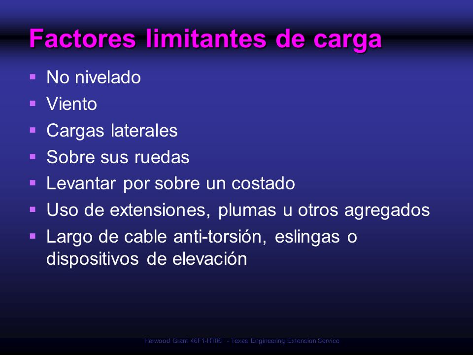 Factores limitantes de carga