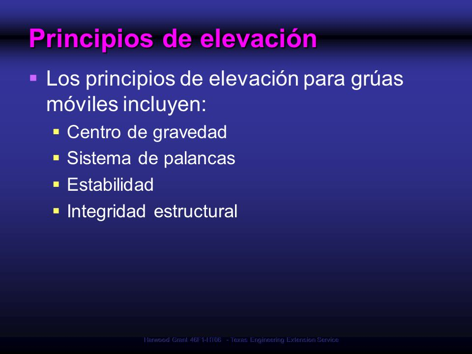 Principios de elevación