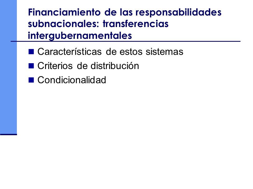 Características de estos sistemas Criterios de distribución