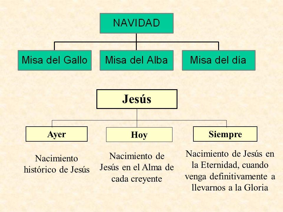 JesúsAyer. Hoy. Siempre. Nacimiento de Jesús en la Eternidad, cuando venga definitivamente a llevarnos a la Gloria.