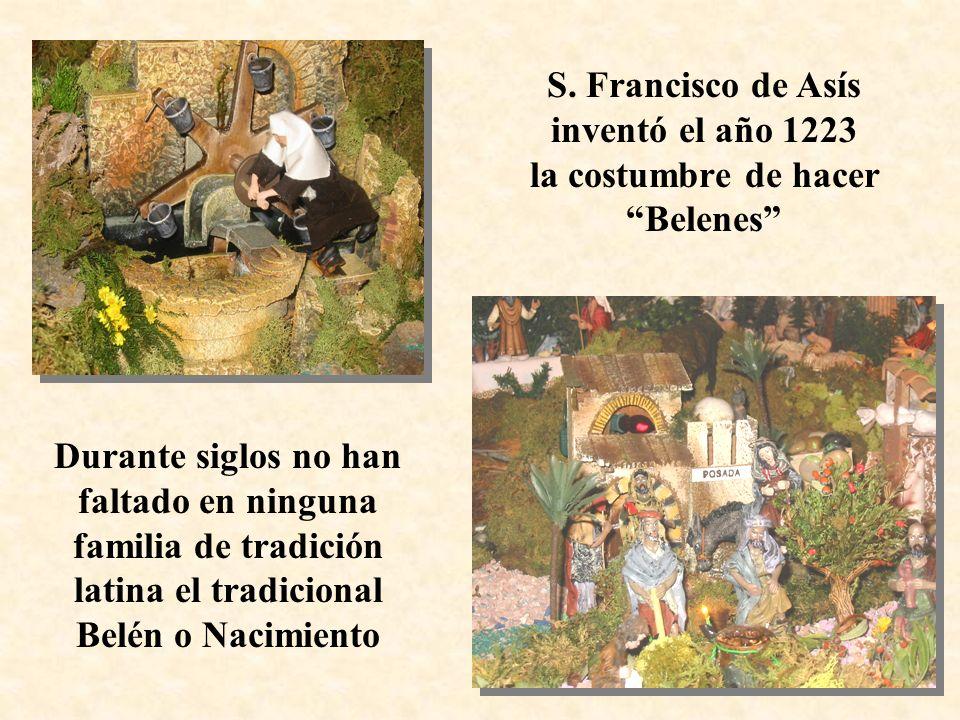 S. Francisco de Asís inventó el año 1223 la costumbre de hacer Belenes