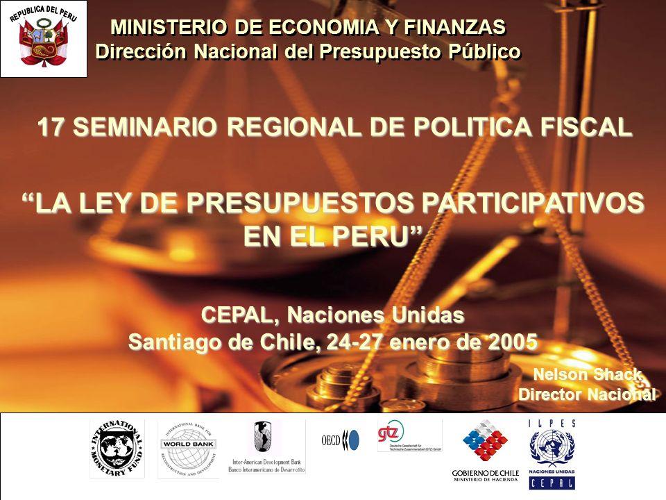 LA LEY DE PRESUPUESTOS PARTICIPATIVOS EN EL PERU