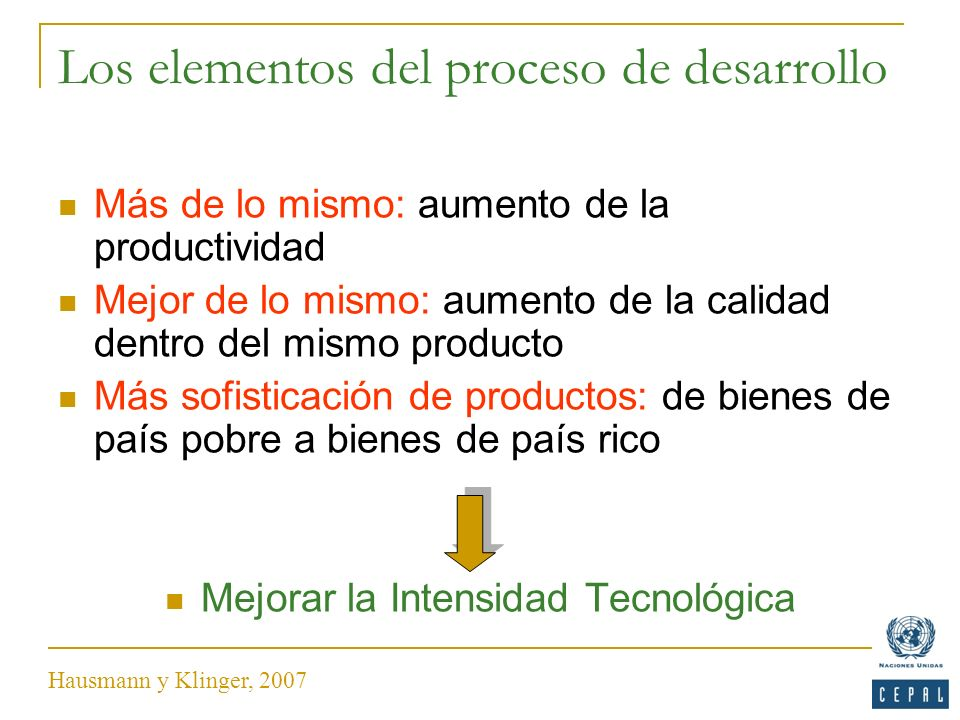 Los elementos del proceso de desarrollo