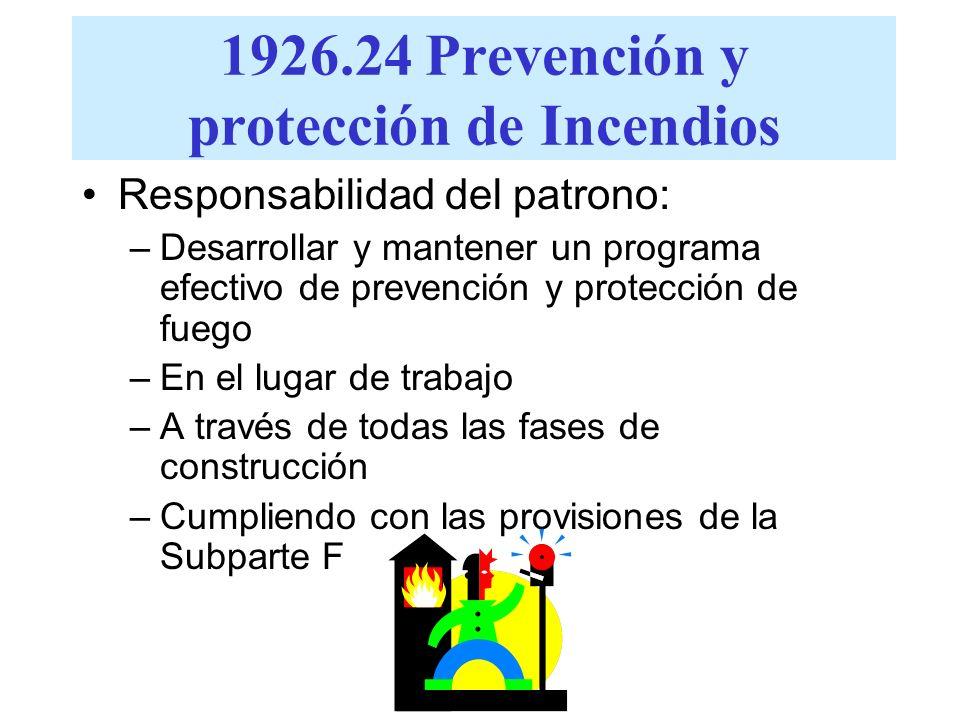 1926.24 Prevención y protección de Incendios