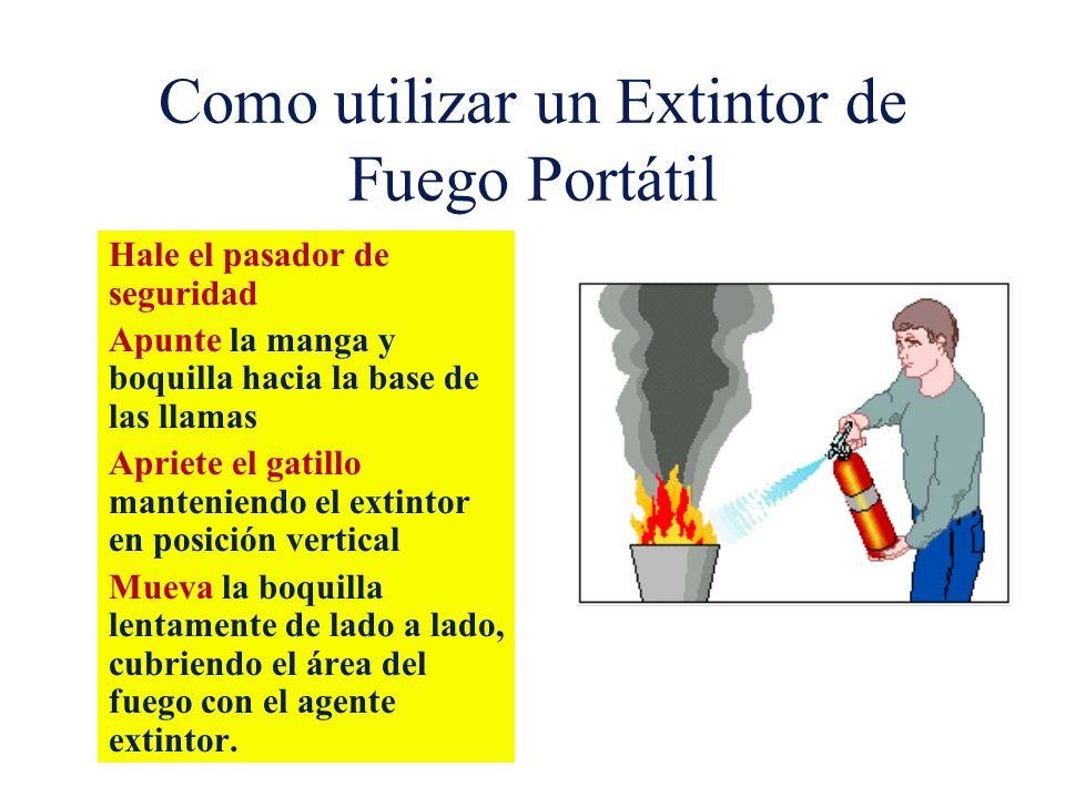 Como utilizar un Extintor de Fuego Portátil