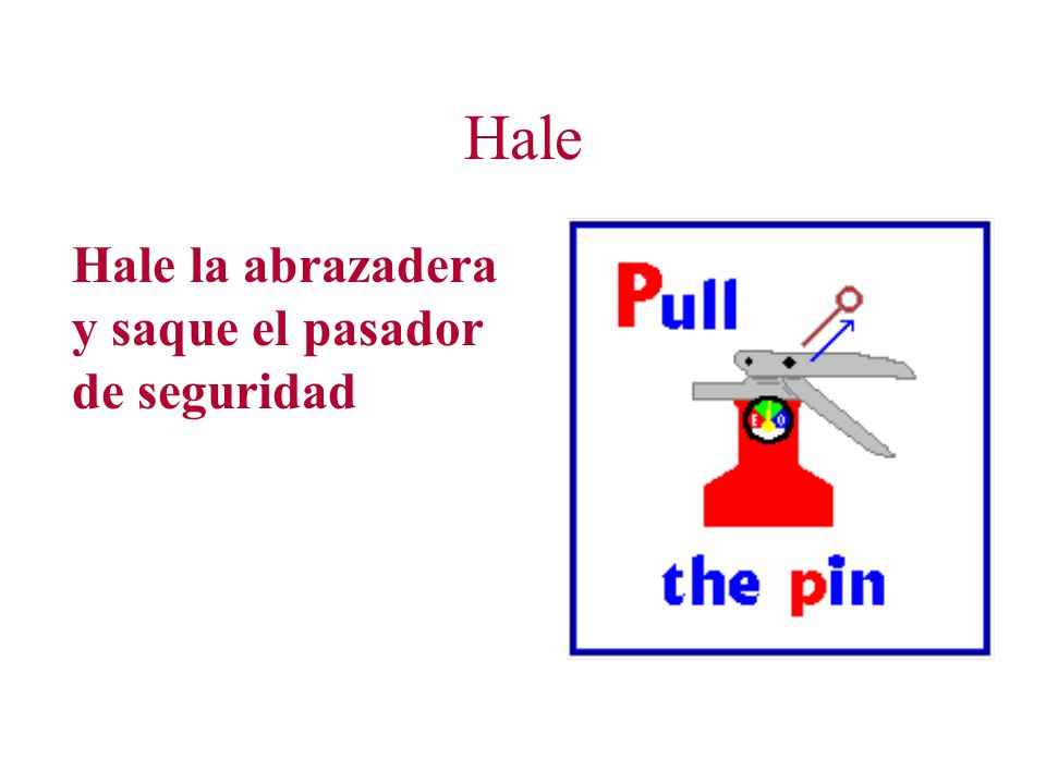 Hale Hale la abrazadera y saque el pasador de seguridad