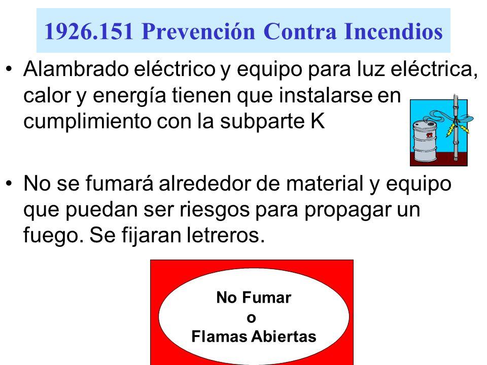 1926.151 Prevención Contra Incendios