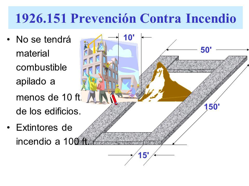 1926.151 Prevención Contra Incendio