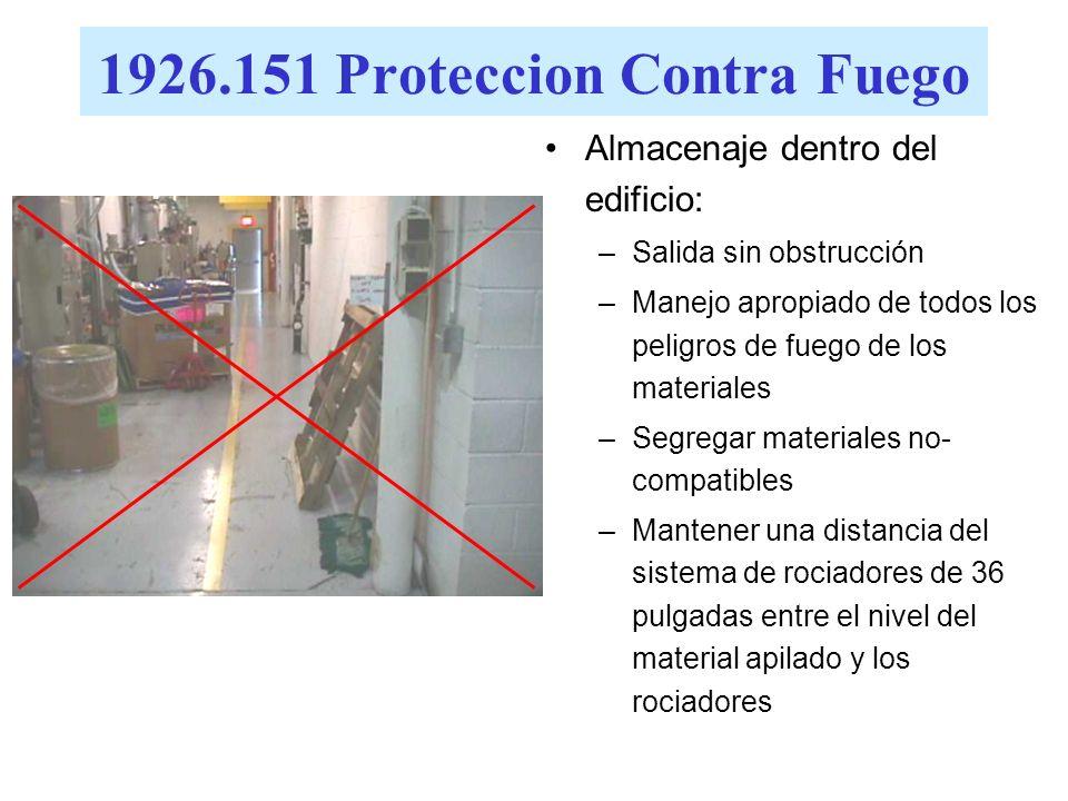 1926.151 Proteccion Contra Fuego
