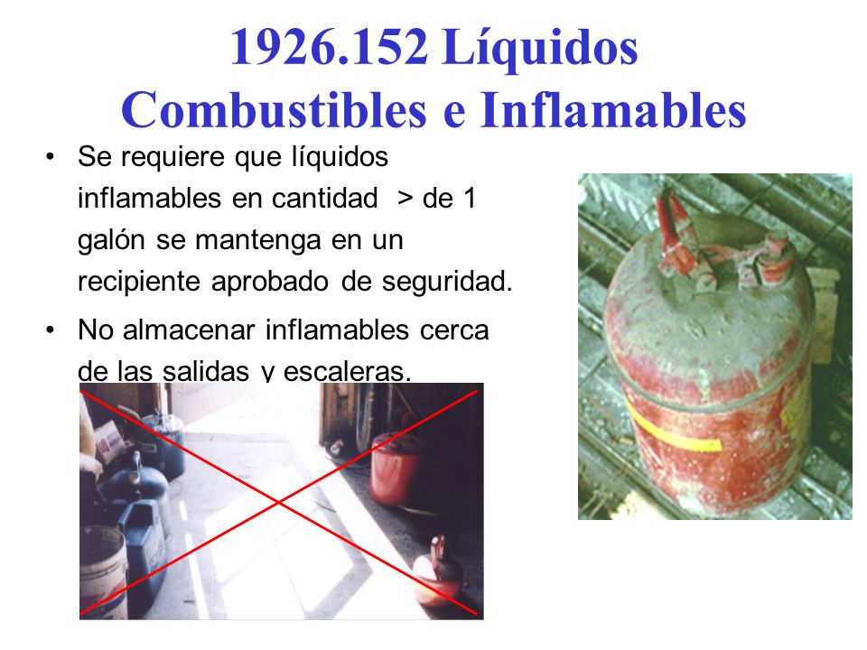 1926.152 Líquidos Combustibles e Inflamables