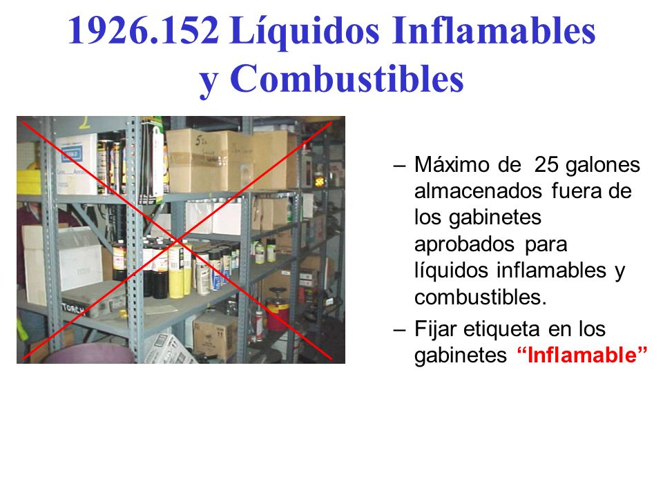 Líquidos Inflamables y Combustibles