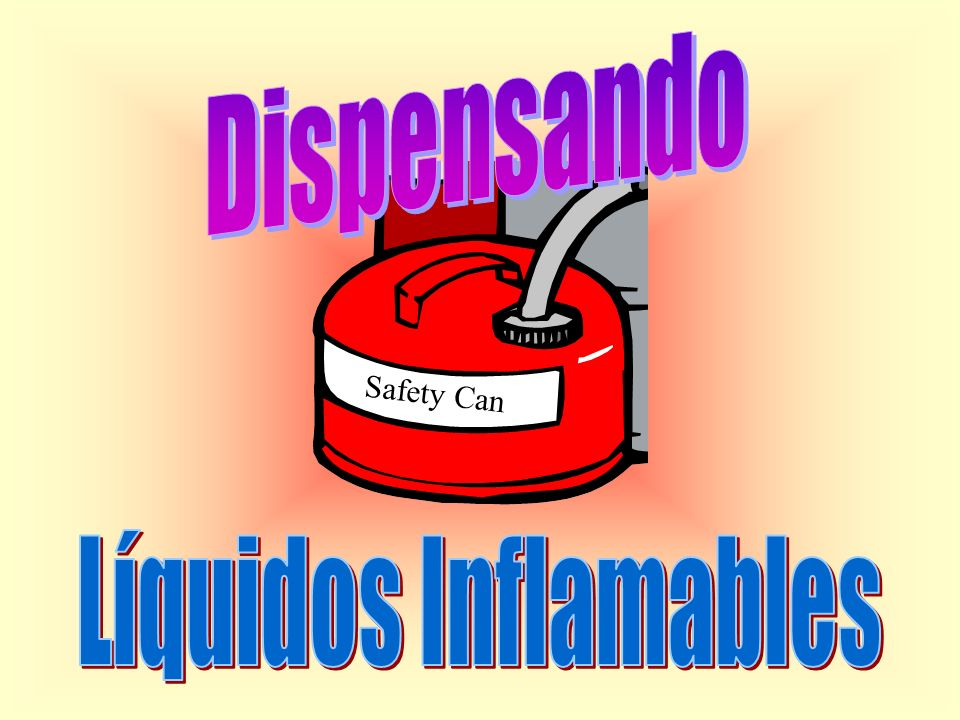 Dispensando Safety Can Líquidos Inflamables