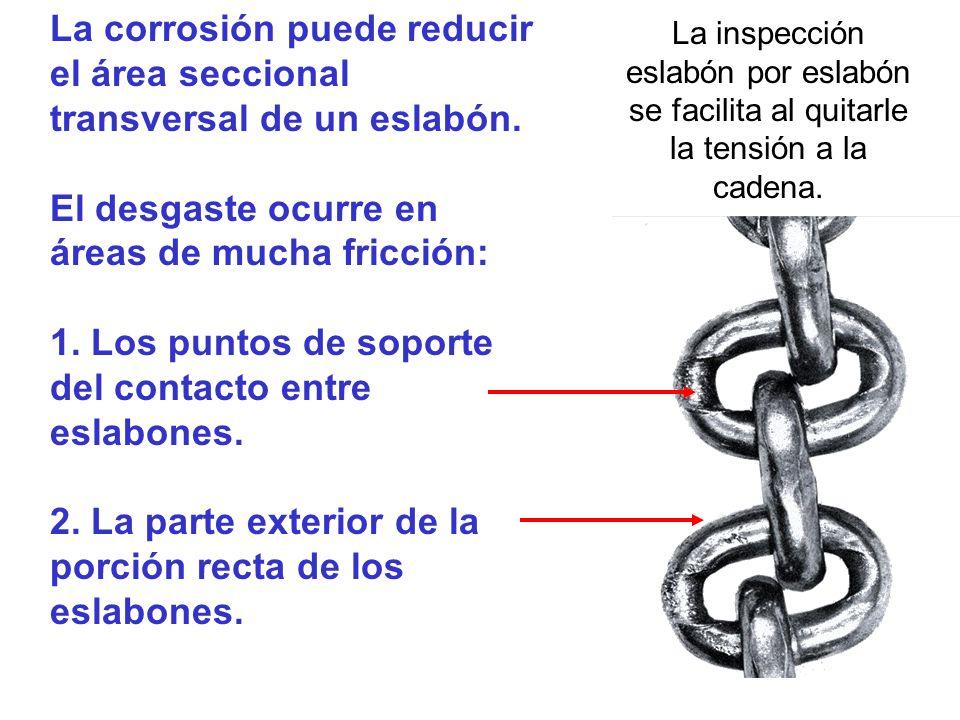 eslabón por eslabón se facilita al quitarle la tensión a la cadena.