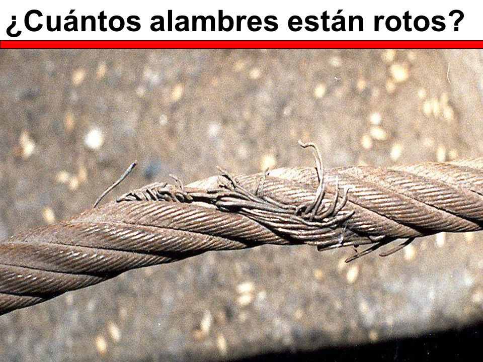 ¿Cuántos alambres están rotos