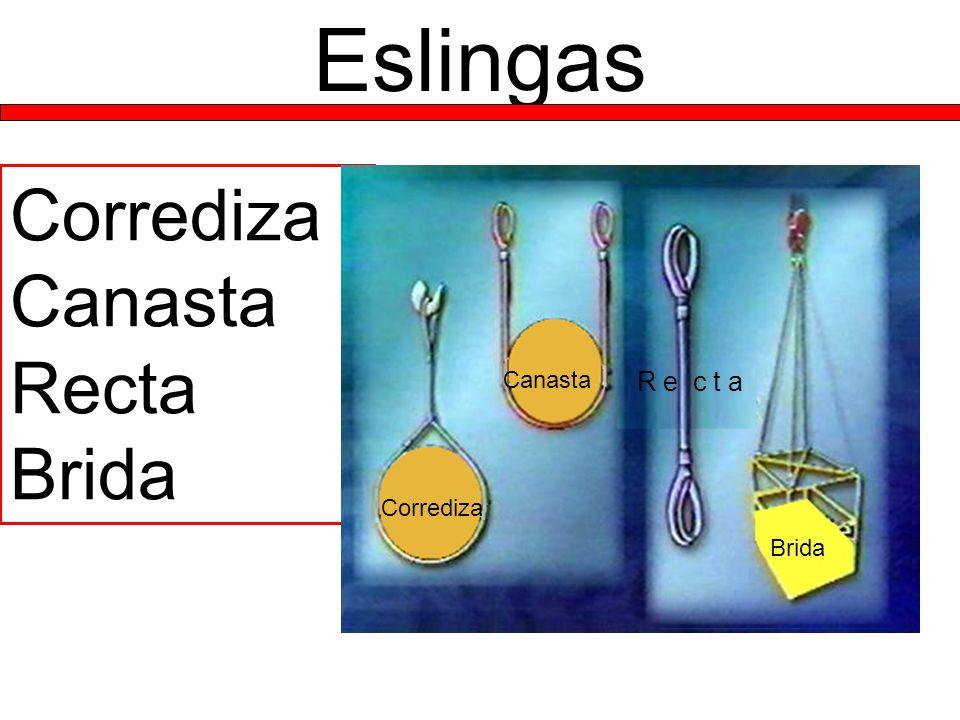 Eslingas Corrediza Canasta Recta Brida Canasta R e c t a Corrediza