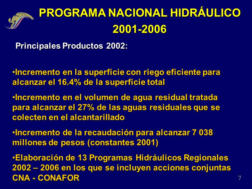 PROGRAMA NACIONAL HIDRÁULICO