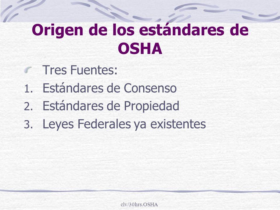 Origen de los estándares de OSHA