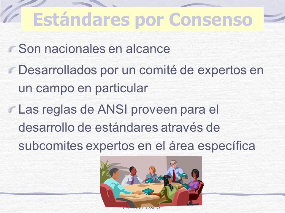 Estándares por Consenso