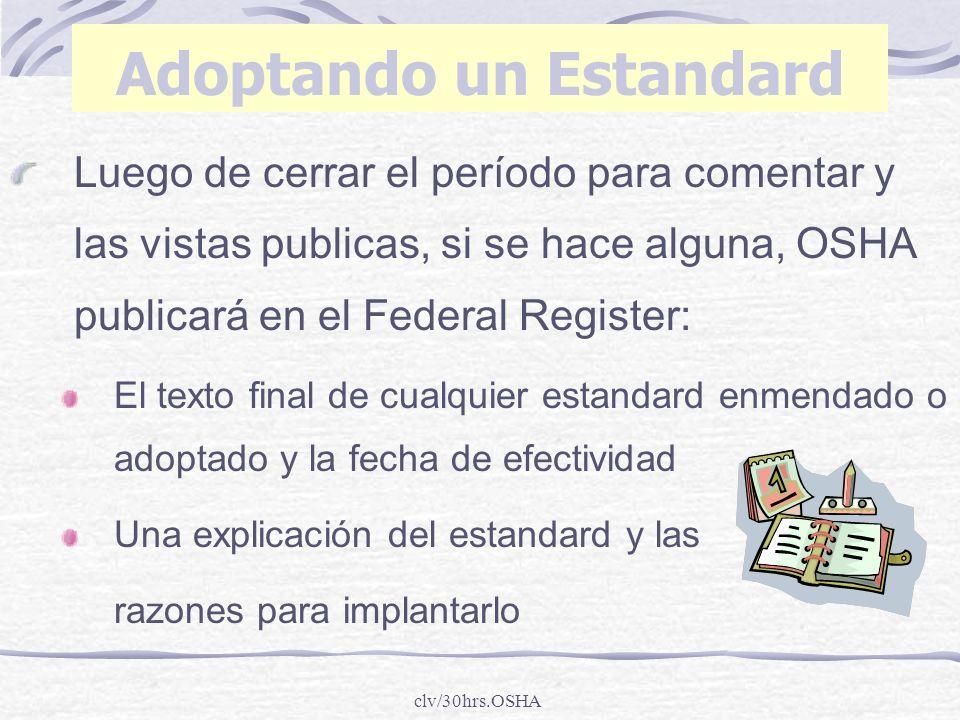 Adoptando un Estandard