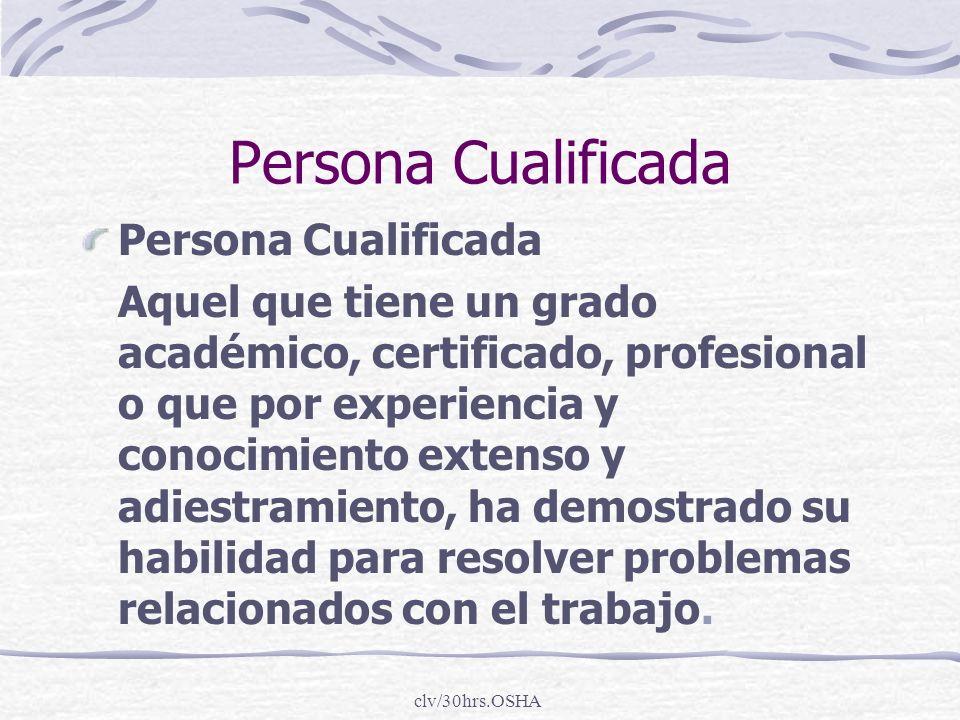 Persona Cualificada Persona Cualificada