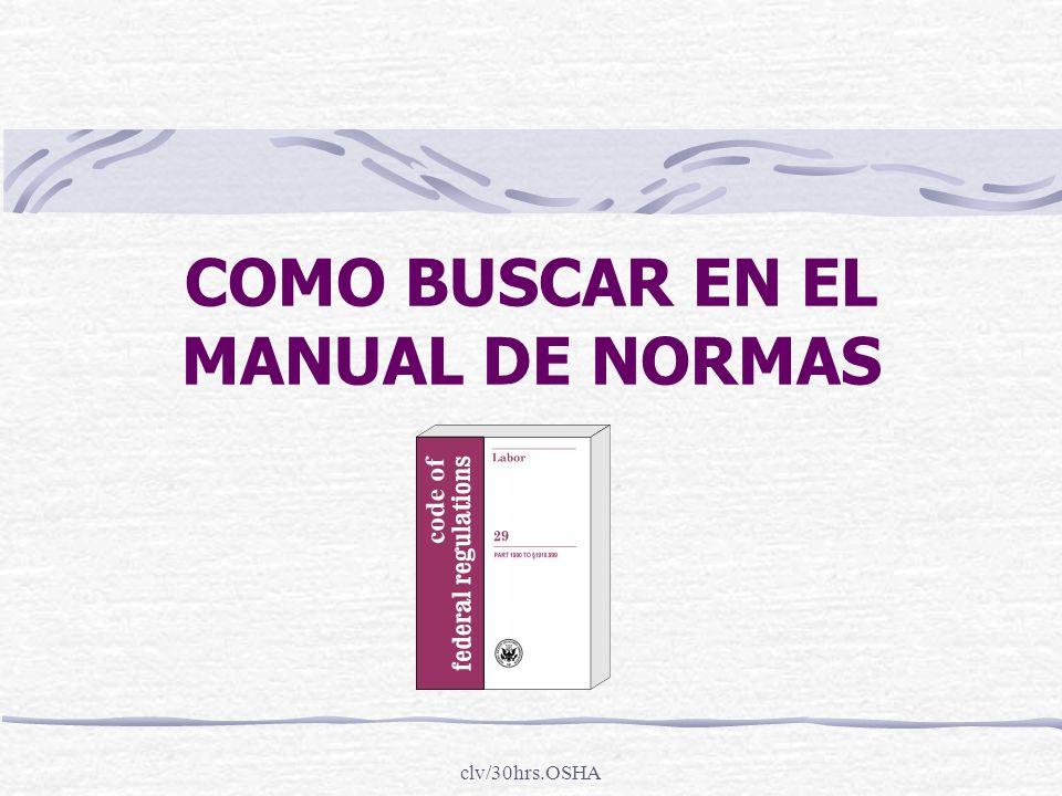 COMO BUSCAR EN EL MANUAL DE NORMAS