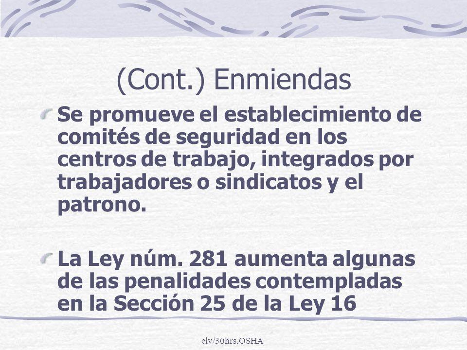 (Cont.) Enmiendas