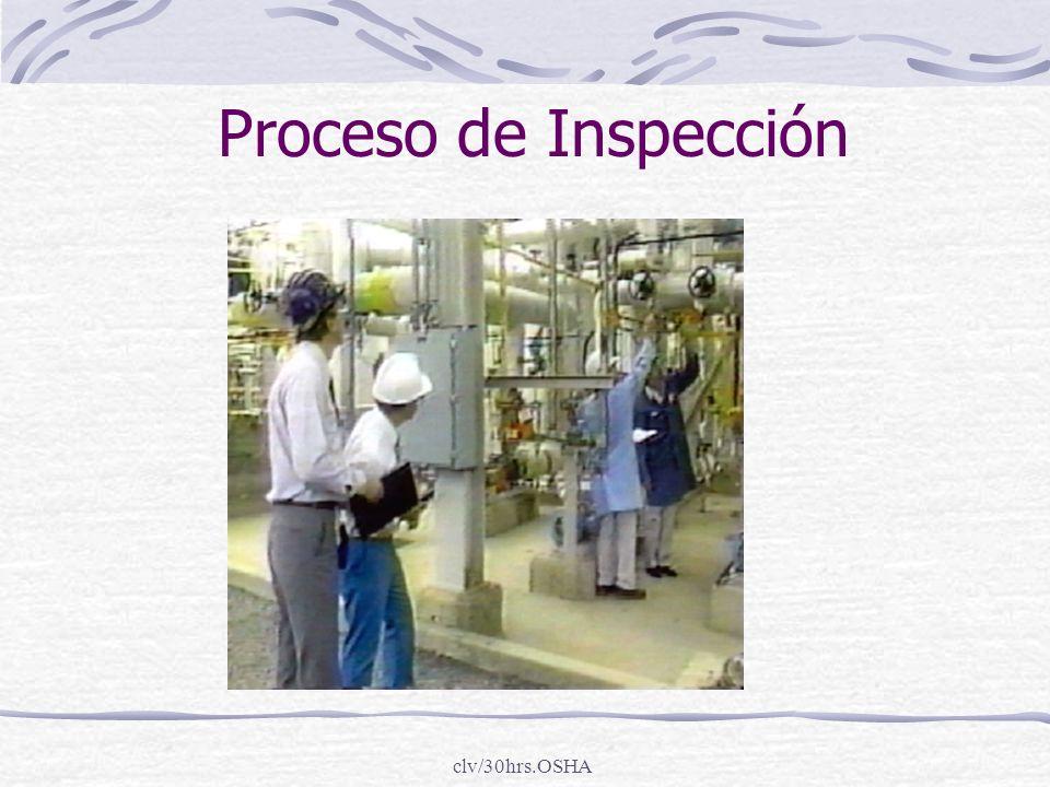 Proceso de Inspección clv/30hrs.OSHA