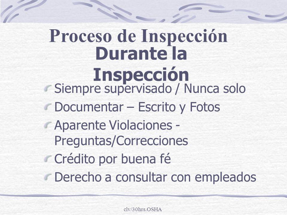 Proceso de Inspección Durante la Inspección