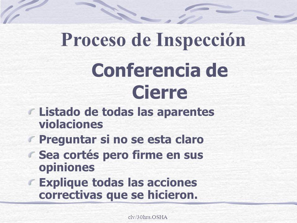 Proceso de Inspección Conferencia de Cierre