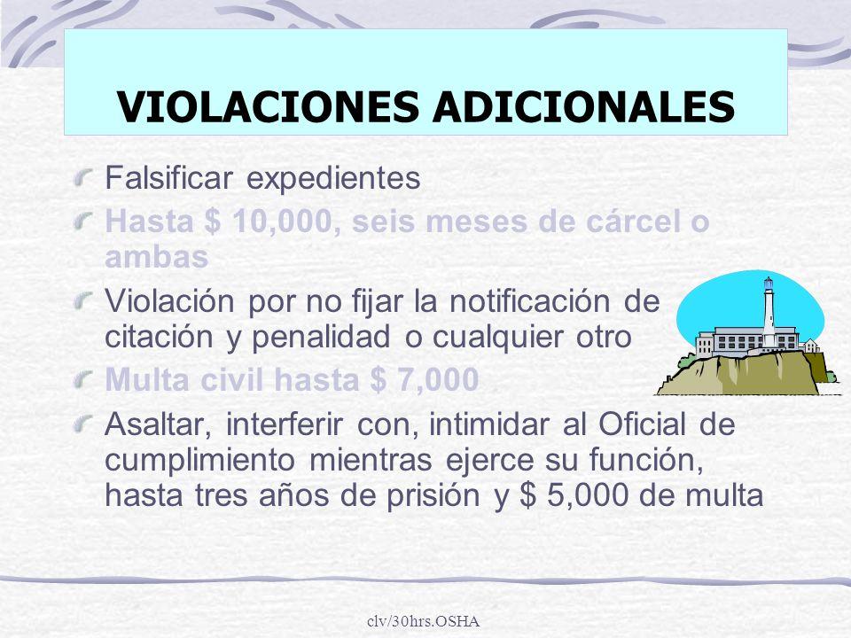 VIOLACIONES ADICIONALES