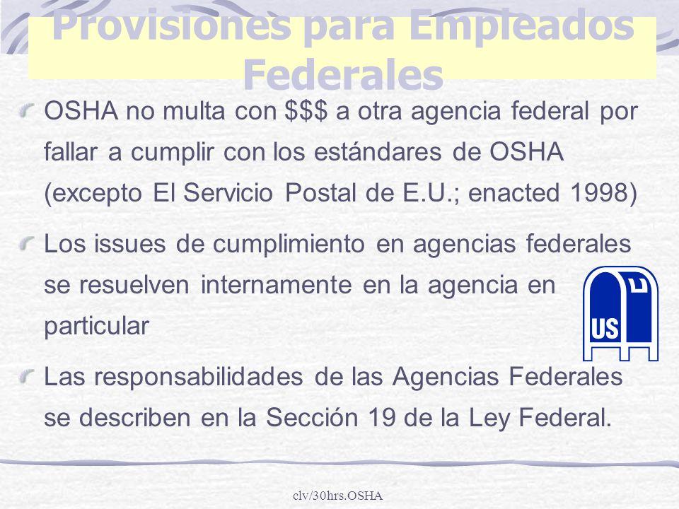 Provisiones para Empleados Federales
