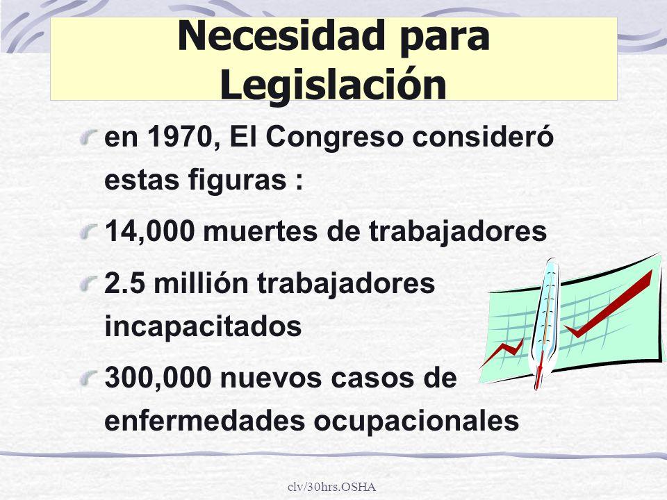 Necesidad para Legislación