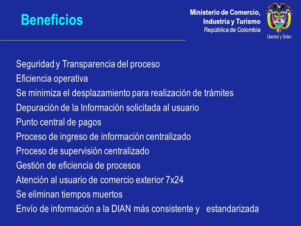 Beneficios Seguridad y Transparencia del proceso Eficiencia operativa