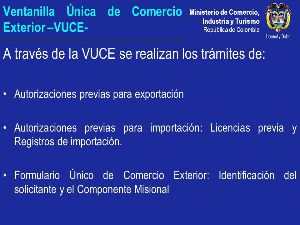 Ventanilla Única de Comercio Exterior –VUCE-