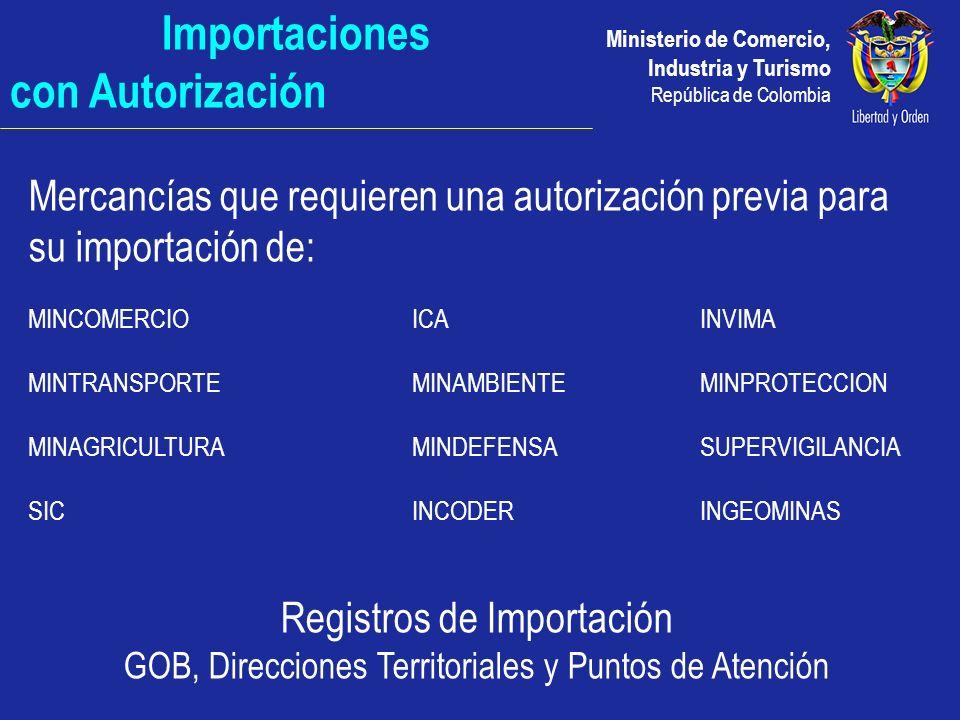 Importaciones con Autorización