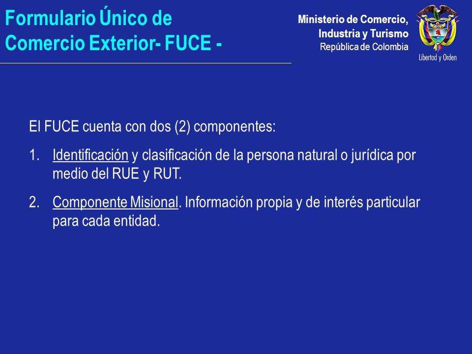 Formulario Único de Comercio Exterior- FUCE -