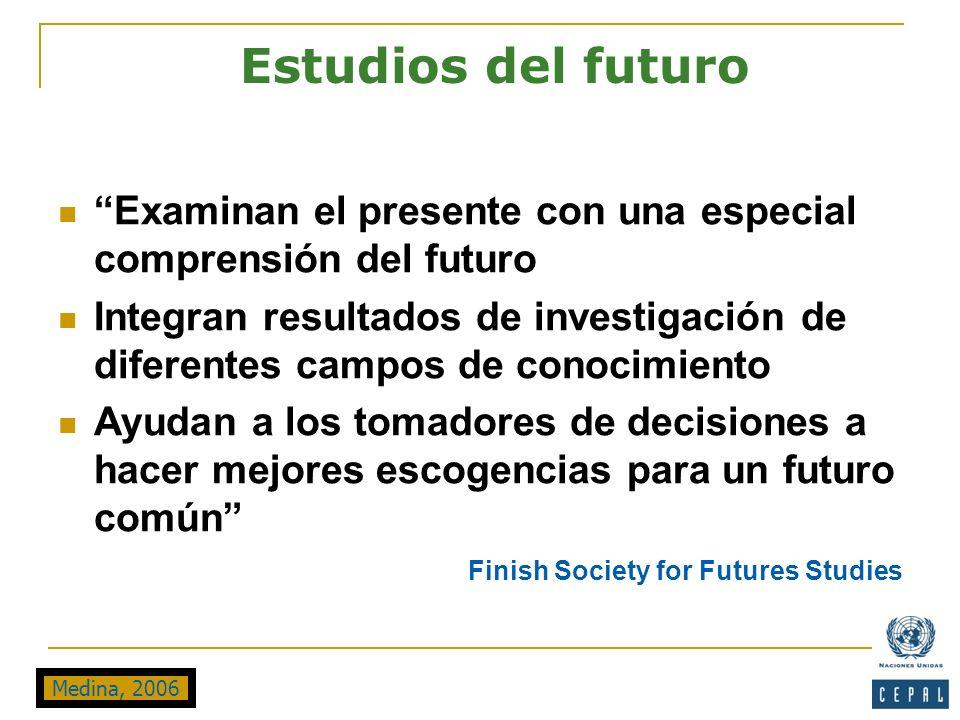 Estudios del futuro Examinan el presente con una especial comprensión del futuro.