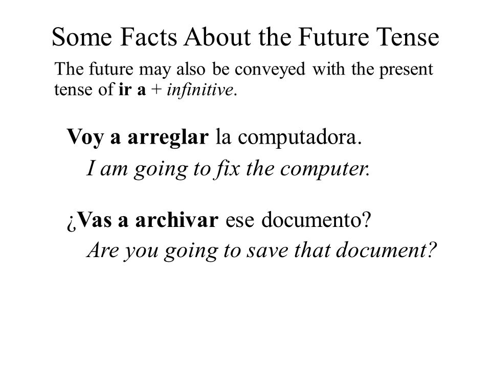 Some Facts About the Future Tense