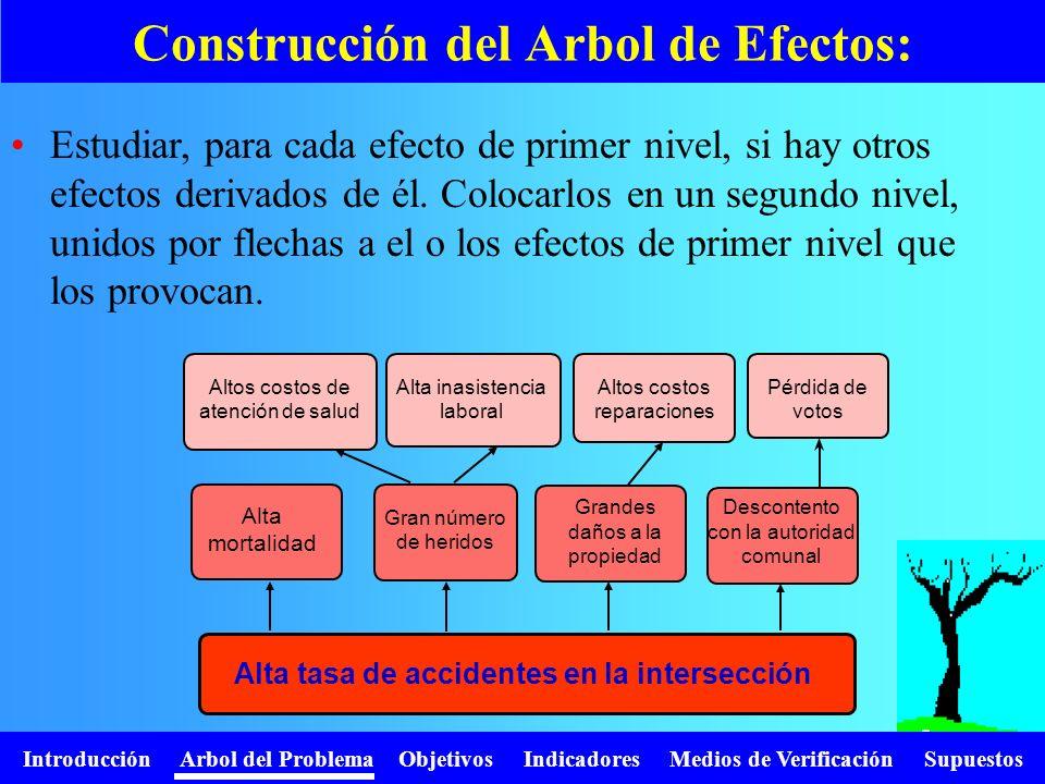 Construcción del Arbol de Efectos:
