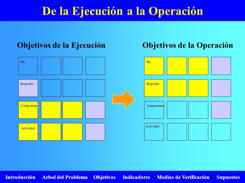 De la Ejecución a la Operación