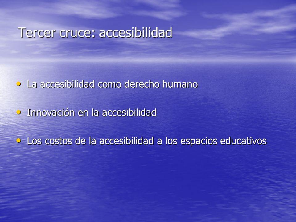 Tercer cruce: accesibilidad