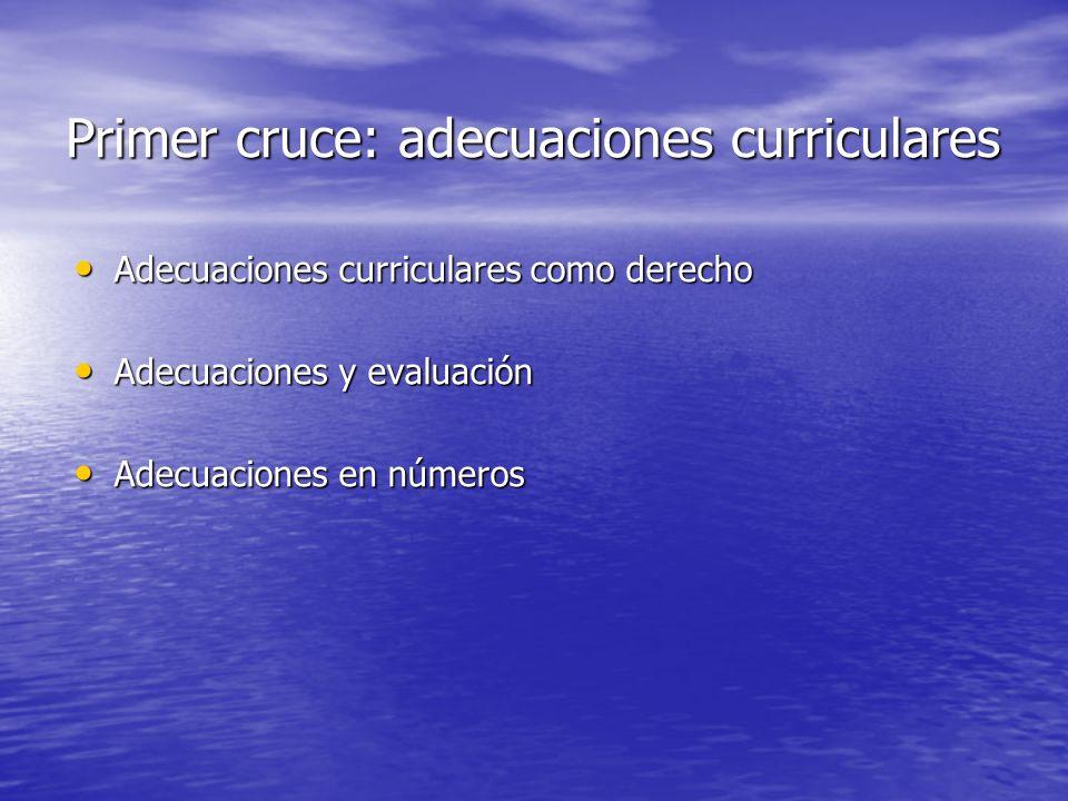 Primer cruce: adecuaciones curriculares