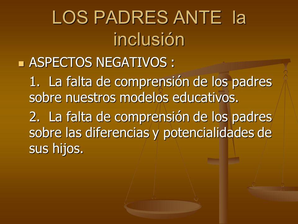 LOS PADRES ANTE la inclusión