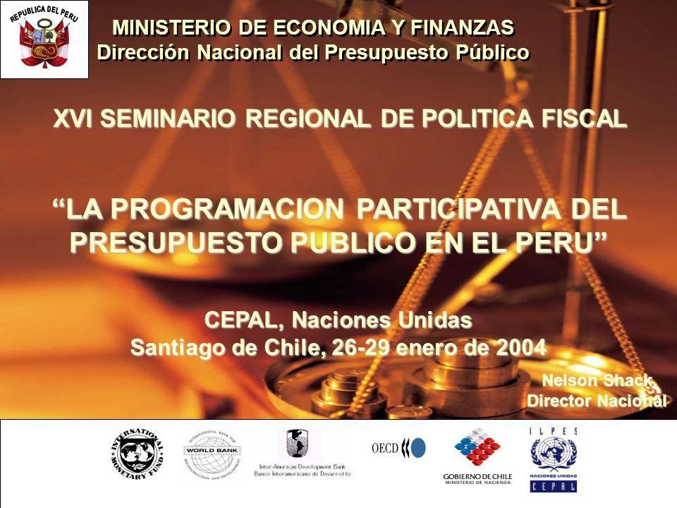 LA PROGRAMACION PARTICIPATIVA DEL PRESUPUESTO PUBLICO EN EL PERU