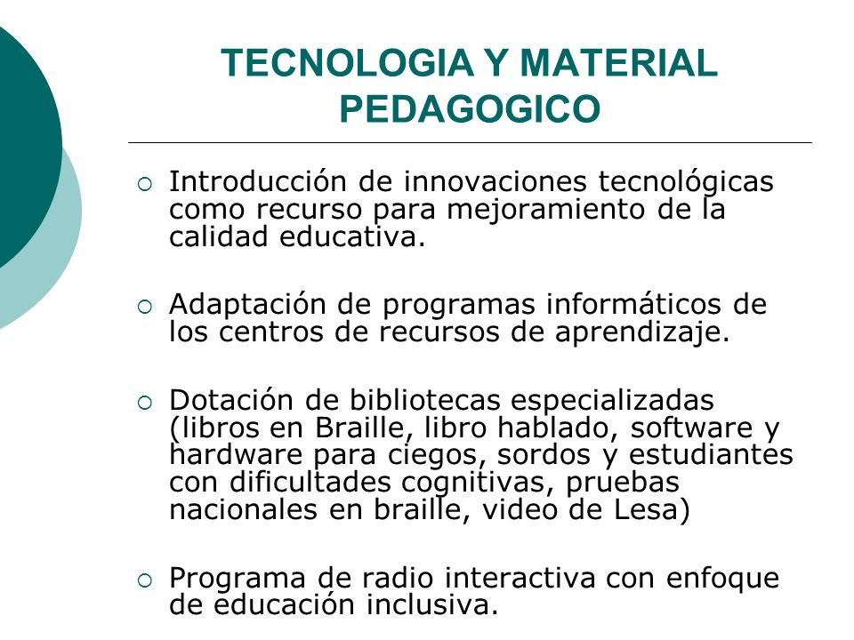 TECNOLOGIA Y MATERIAL PEDAGOGICO
