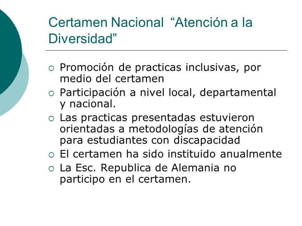 Certamen Nacional Atención a la Diversidad