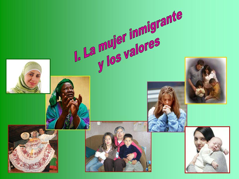 I. La mujer inmigrante y los valores