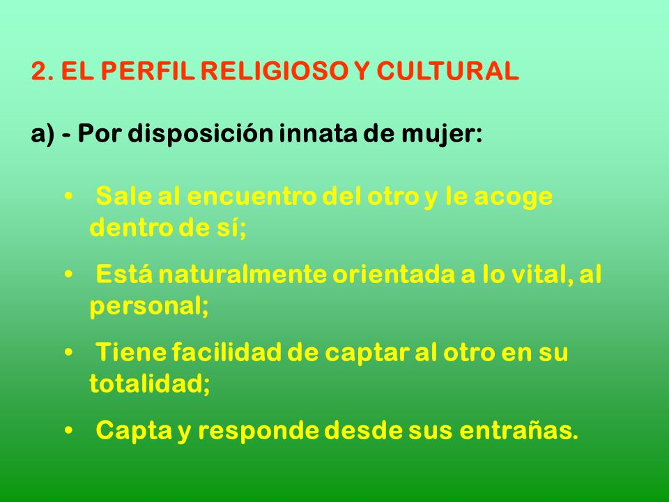 2. EL PERFIL RELIGIOSO Y CULTURAL